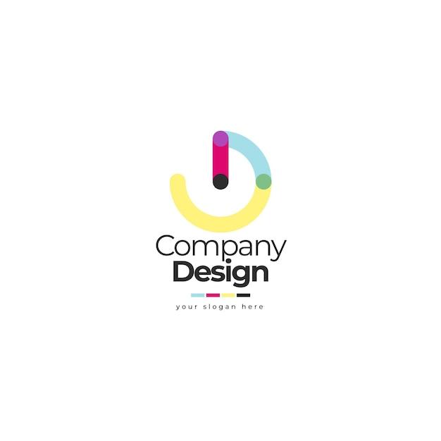 Ontwerp logo redactionele sjabloon Gratis Vector