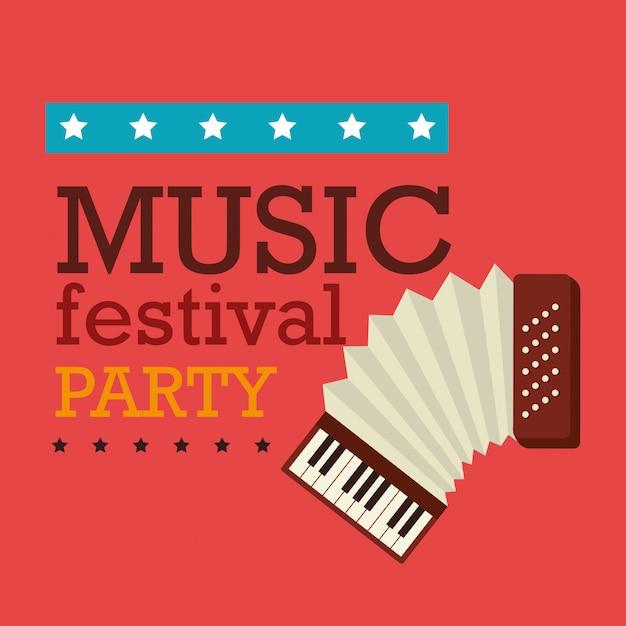 Ontwerp muziekfestival. Premium Vector