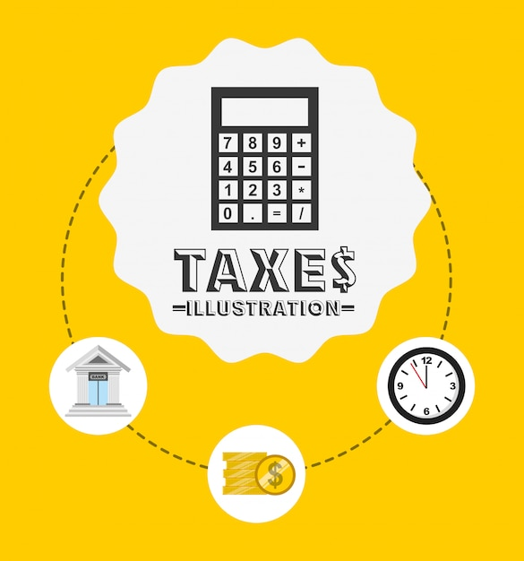 Ontwerp van belastingtijd Gratis Vector
