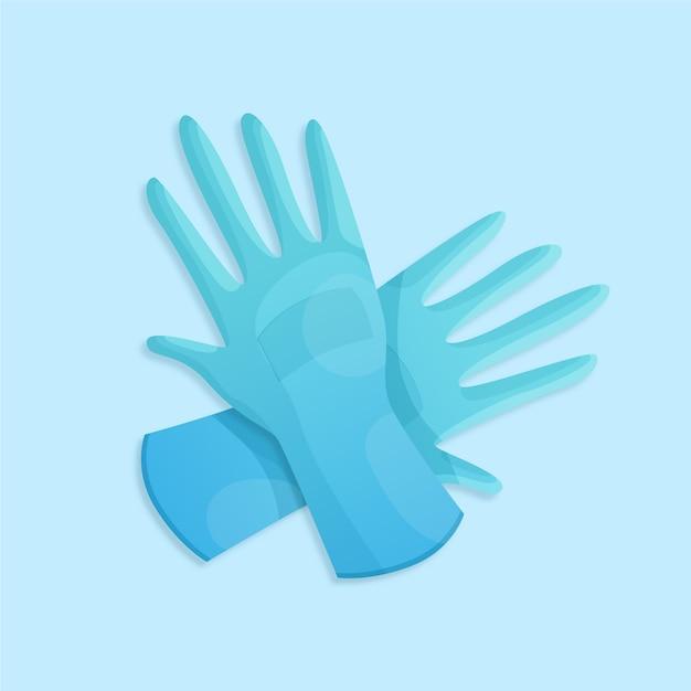 Ontwerp van beschermende handschoenen Gratis Vector