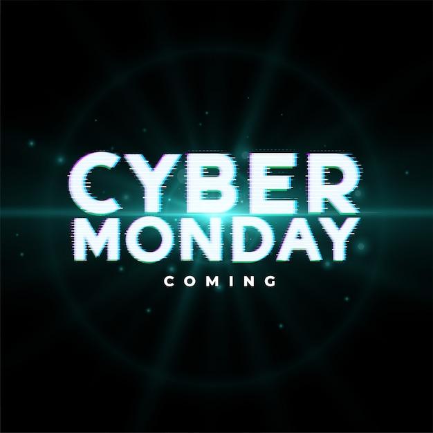 Ontwerp van de banner van het evenement van cyber op maandag Gratis Vector