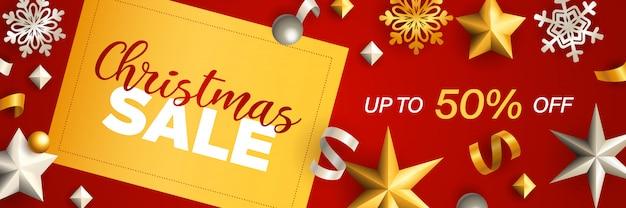 Ontwerp van de banner van kerstmis verkoop Gratis Vector