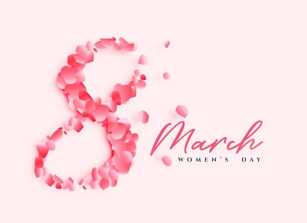 Ontwerp van de de dagaffiche van mooie vrouwen Gratis Vector