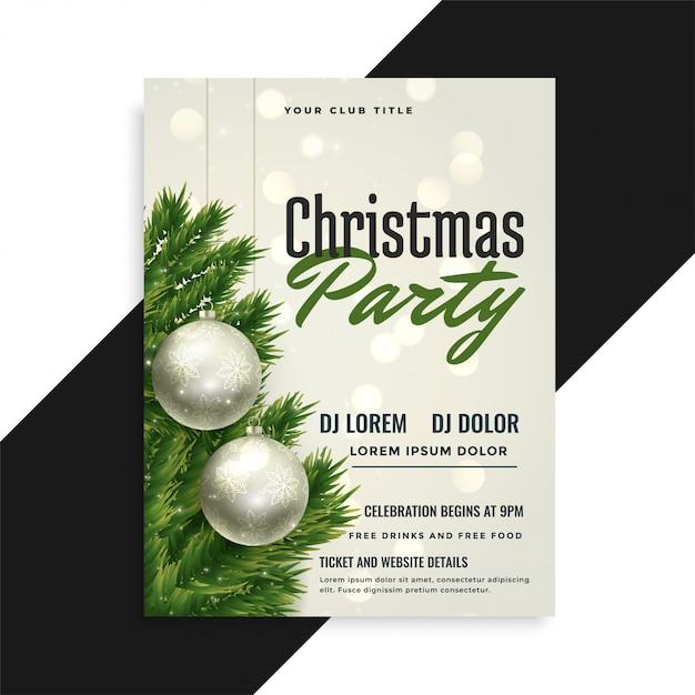 Ontwerp van de de vliegersjabloon van de partij van de partij van kerstmis Gratis Vector