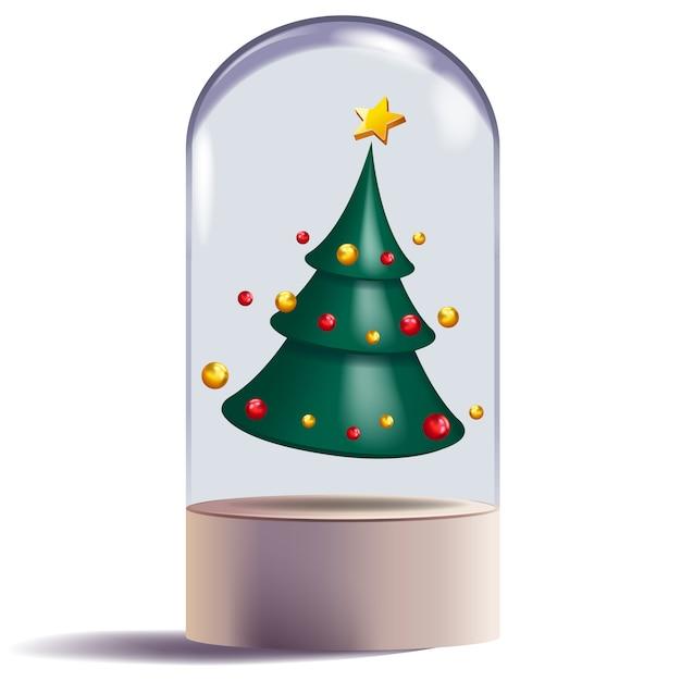 Ontwerp Van De Kerstboom 3d Abstract Vorm Decoratief Vector