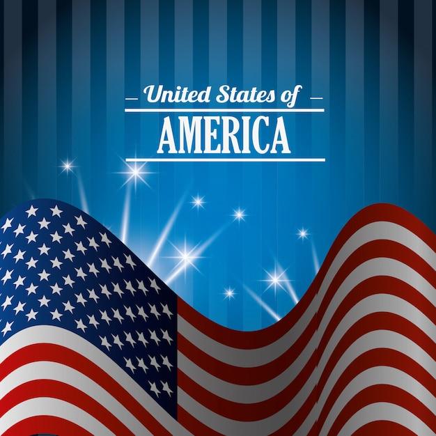 Ontwerp van de verenigde staten. Gratis Vector