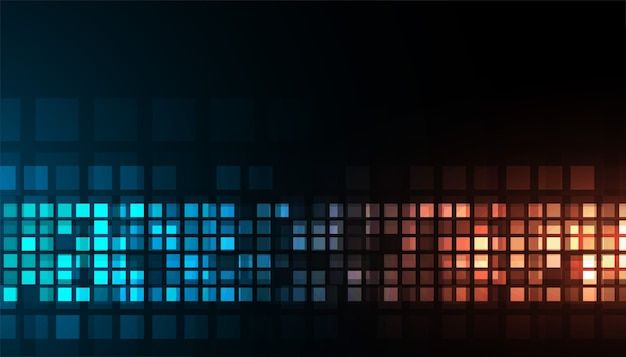 Ontwerp van digitale technologie glanzend blauw en oranje donker achtergrond Gratis Vector