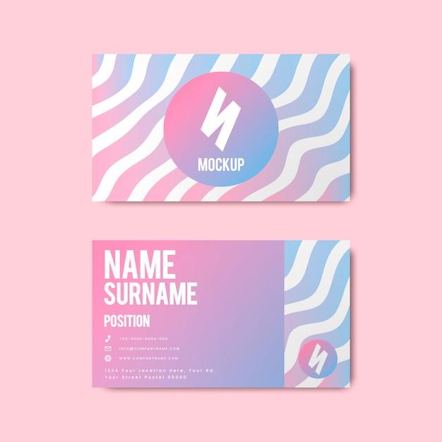 Ontwerp van het de stijl het creatieve visitekaartje van memphis in gewaagde kleuren Gratis Vector
