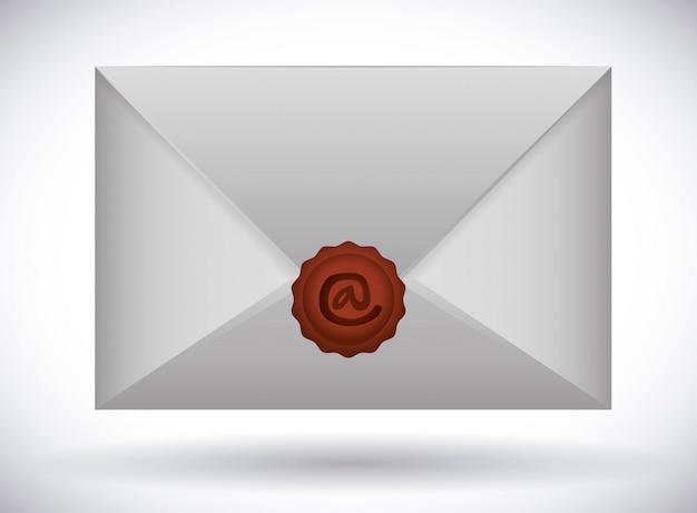 Ontwerp van het e-mailpictogram Premium Vector