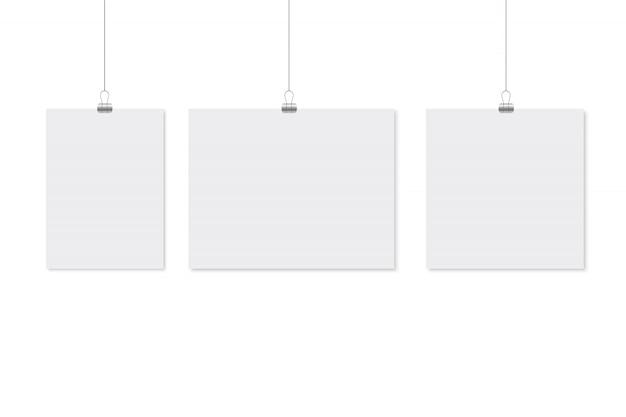 Ontwerp van het model van de papieren poster. Premium Vector
