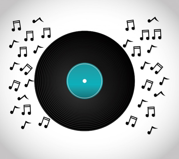 Ontwerp van muziek en geluid Premium Vector