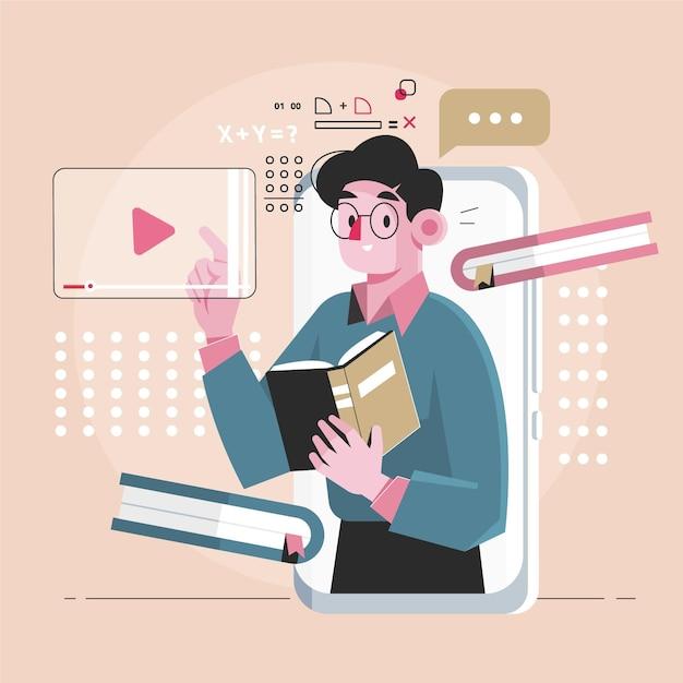 Ontwerp van online cursussen Gratis Vector