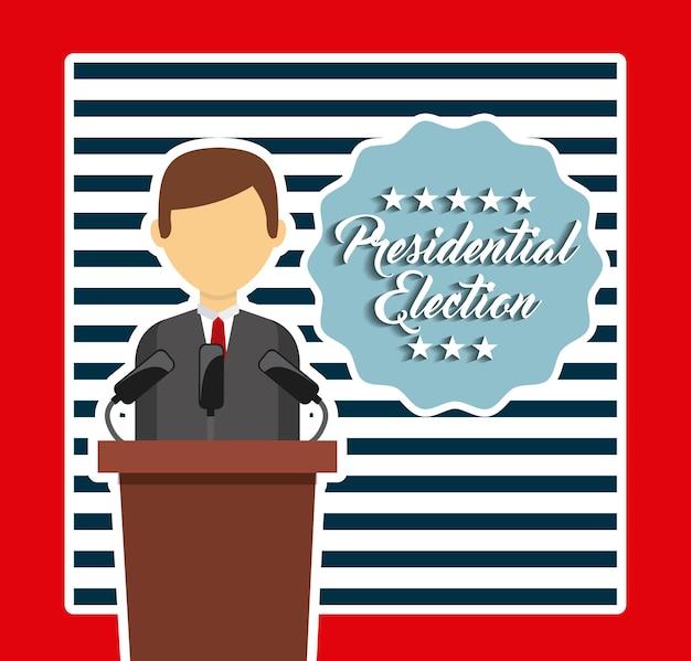 Ontwerp van overheidsverkiezingen Premium Vector