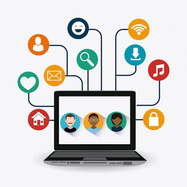 Ontwerp van sociale media. Premium Vector