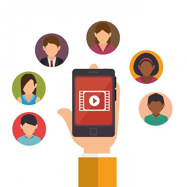 Ontwerp van sociale media Gratis Vector