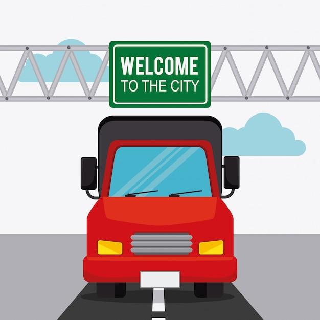 Ontwerp van transport, verkeer en voertuigen Gratis Vector