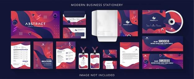 Ontwerp van zakelijke huisstijl briefpapier Premium Vector