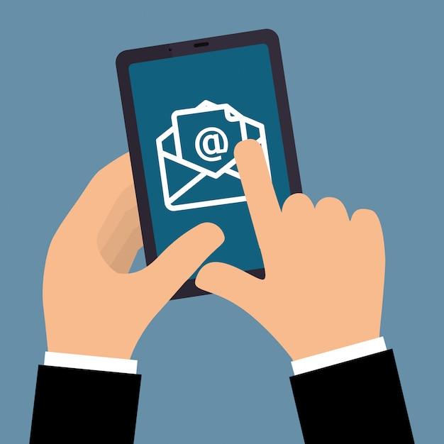 Ontwerp voor e-mailmarketing. Premium Vector