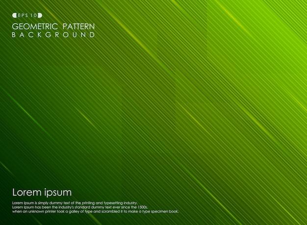 Ontwerpactiviteiten van de achtergrondgradiënt groene streeplijn Premium Vector