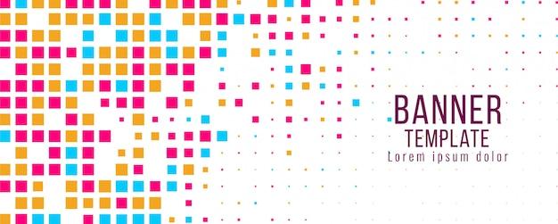 Ontwerpsjabloon abstracte banner kleurrijke mozaïek Gratis Vector
