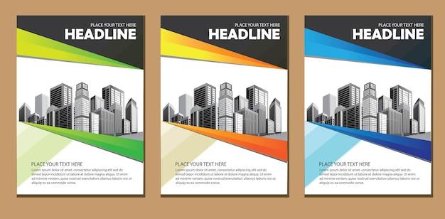 Ontwerpsjabloon brochure bedrijfsbrochure Premium Vector