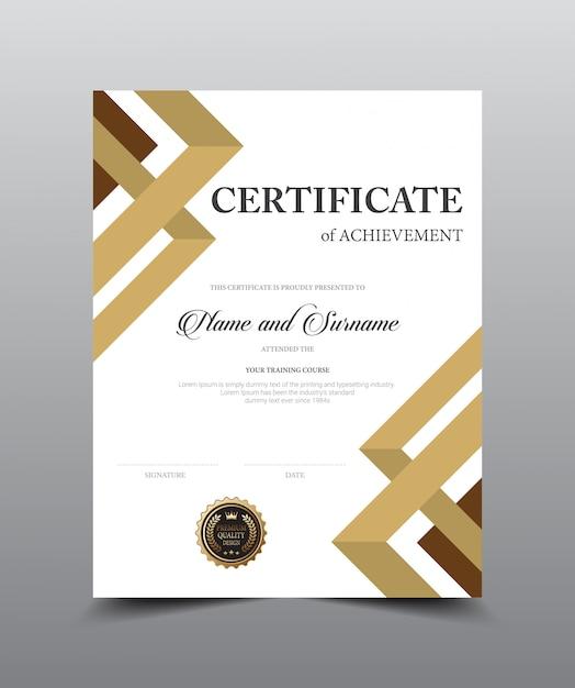 Ontwerpsjabloon certificaatindeling. Premium Vector