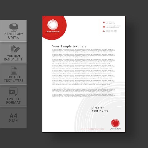 Ontwerpsjabloon voor briefpapier Premium Vector