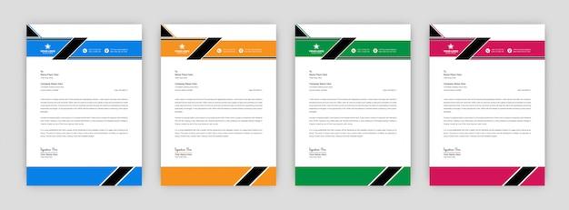 Ontwerpsjabloon voor creatieve zakelijke briefhoofd Premium Vector