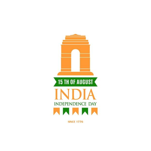 Ontwerpsjabloon voor independence day of india. Premium Vector