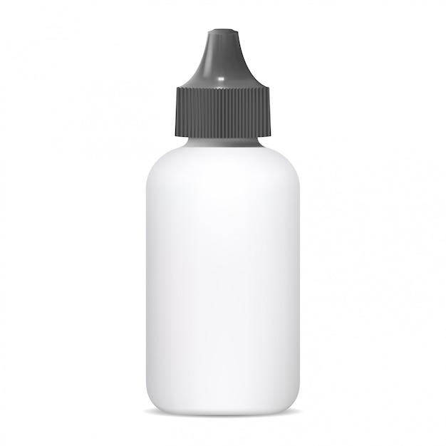 Oogdruppelfles, medische neusspray 3d leeg Premium Vector