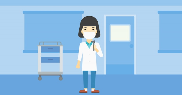 Oor neus keel dokter Premium Vector