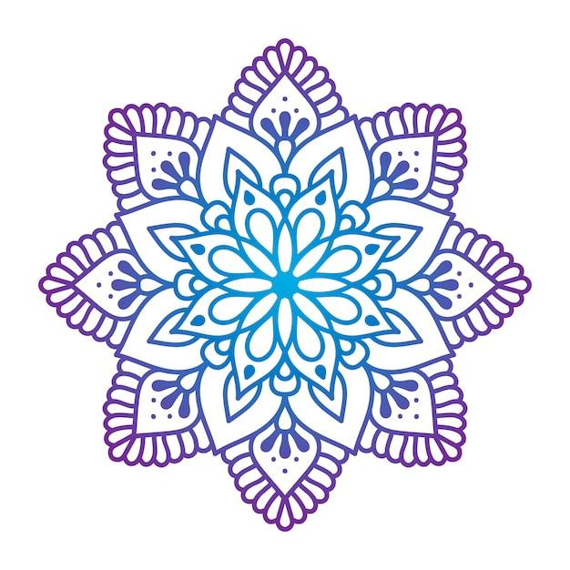 Oosterse ornamentmandala Gratis Vector