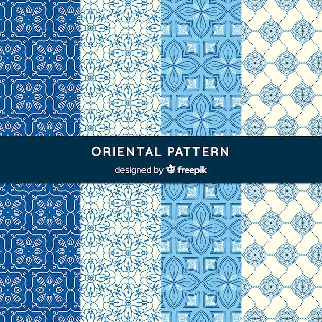 Oosterse patrooninzameling Gratis Vector