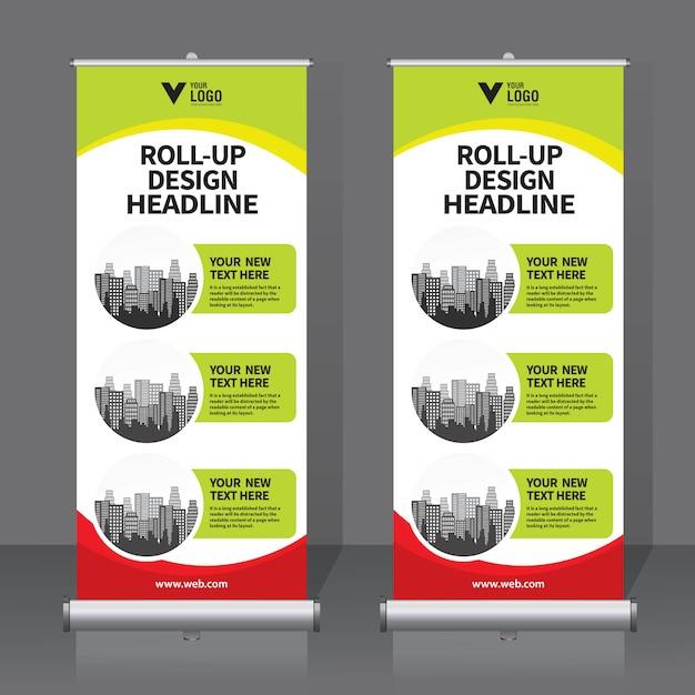 Op roll spandoek Premium Vector