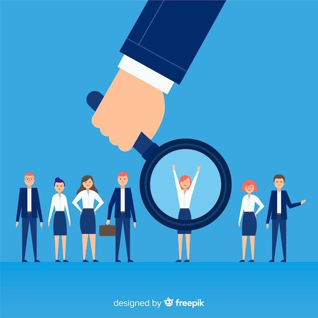 Op zoek naar talent achtergrond Gratis Vector