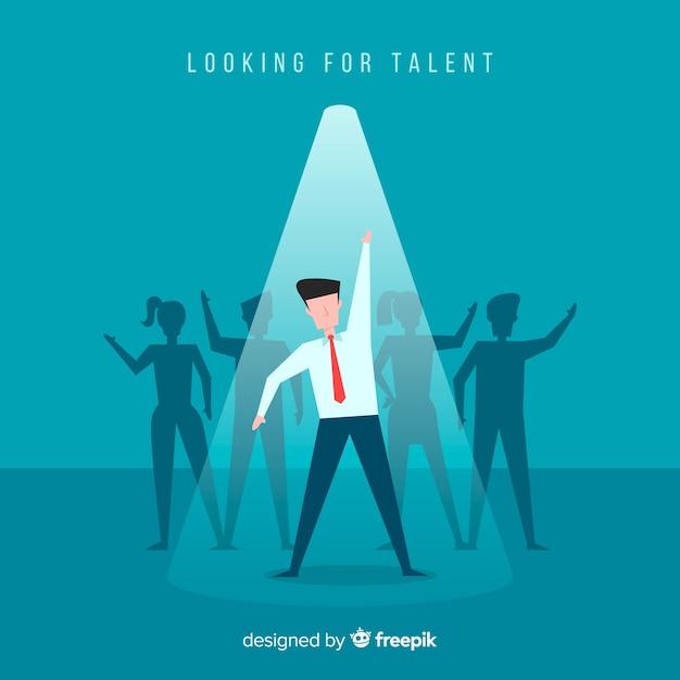 Op zoek naar talent Gratis Vector
