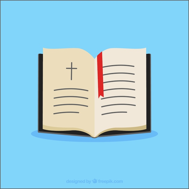 Open bijbel collectie Gratis Vector