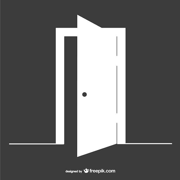 Open deur vector sjabloon Gratis Vector
