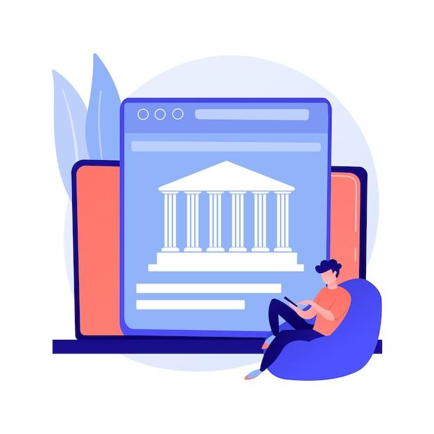 Open toegang tot bankgegevens. financiële diensten, ontwikkeling van mobiele betaalapps, api-technologie. webontwikkelaars die bankplatforms ontwerpen. Gratis Vector