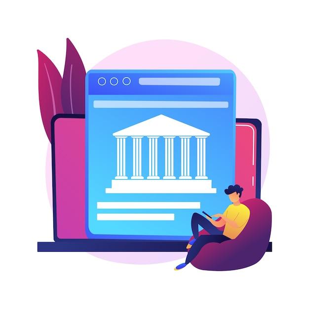 Open toegang tot bankgegevens. financiële diensten, ontwikkeling van mobiele betaalapps, api-technologie. webontwikkelaars die bankplatforms ontwerpen Gratis Vector
