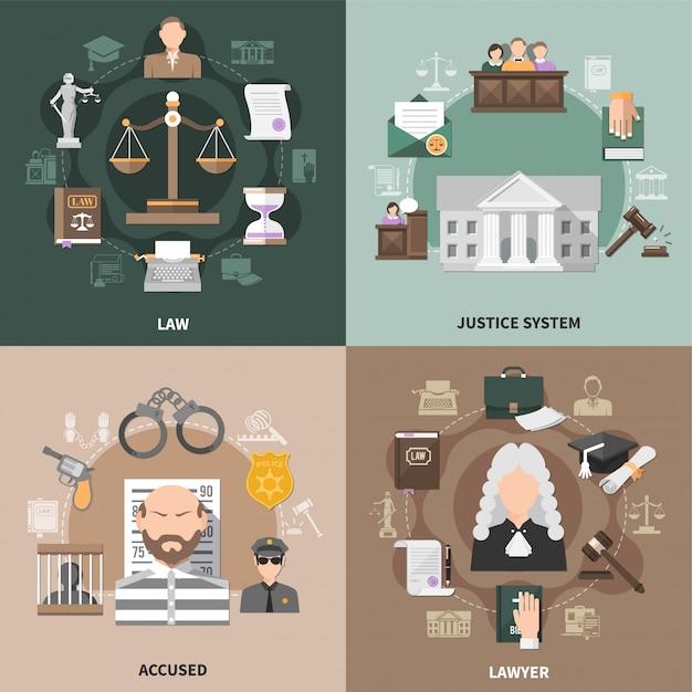 Openbare justitie ontwerpconcept Gratis Vector