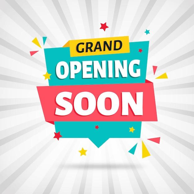 Opening soon background Premium Vector