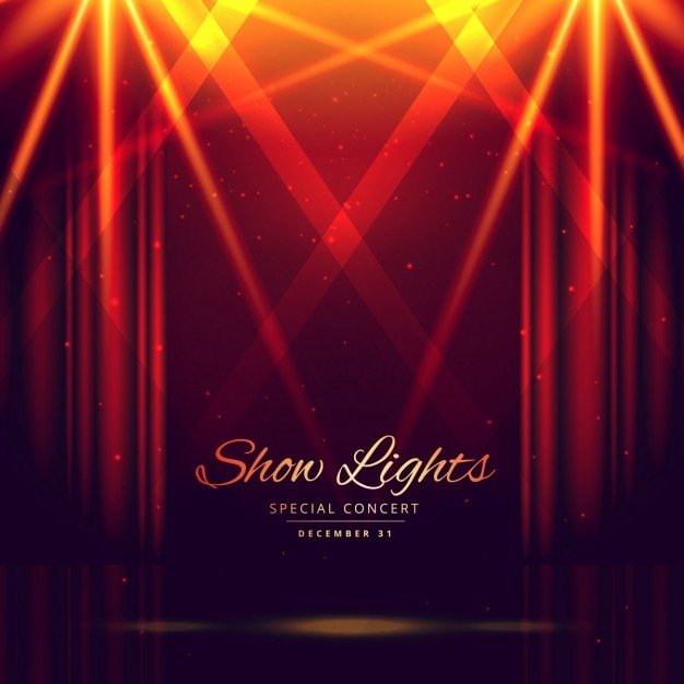 opera theater podium met rode gordijnen open gratis vector