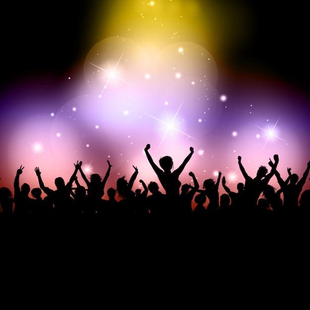 Opgewonden publiek Gratis Vector