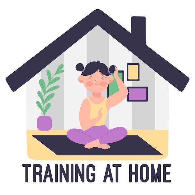Opleiding thuis concept Gratis Vector