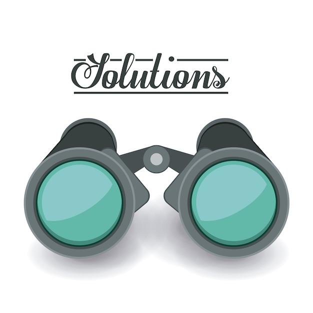 Oplossingen ontwerpen Premium Vector