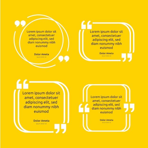 Opmerking citaat tekst vak poster sjabloon concept Premium Vector