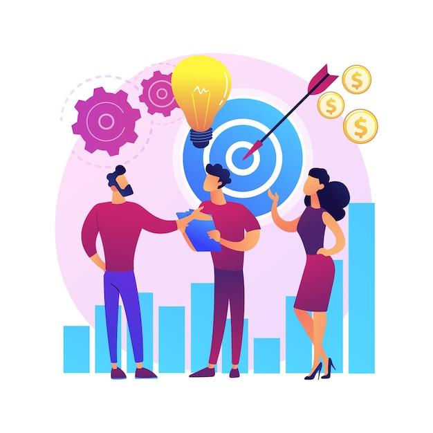 Opstarten, raketlancering, projectstart. zakendoen, oprichting van een bedrijf. teamwork samenwerking partnerschap. ondernemers stripfiguren Gratis Vector