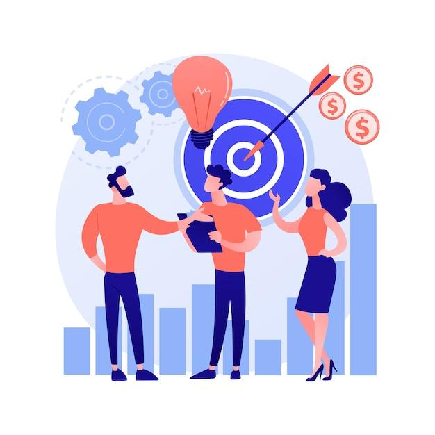 Opstarten, raketlancering, projectstart. zakendoen, oprichting van een bedrijf. teamwork, samenwerking, partnerschap. ondernemers stripfiguren Gratis Vector