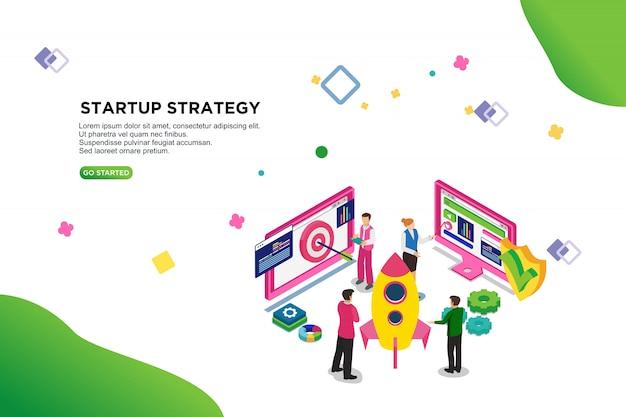 Opstartstrategie Premium Vector